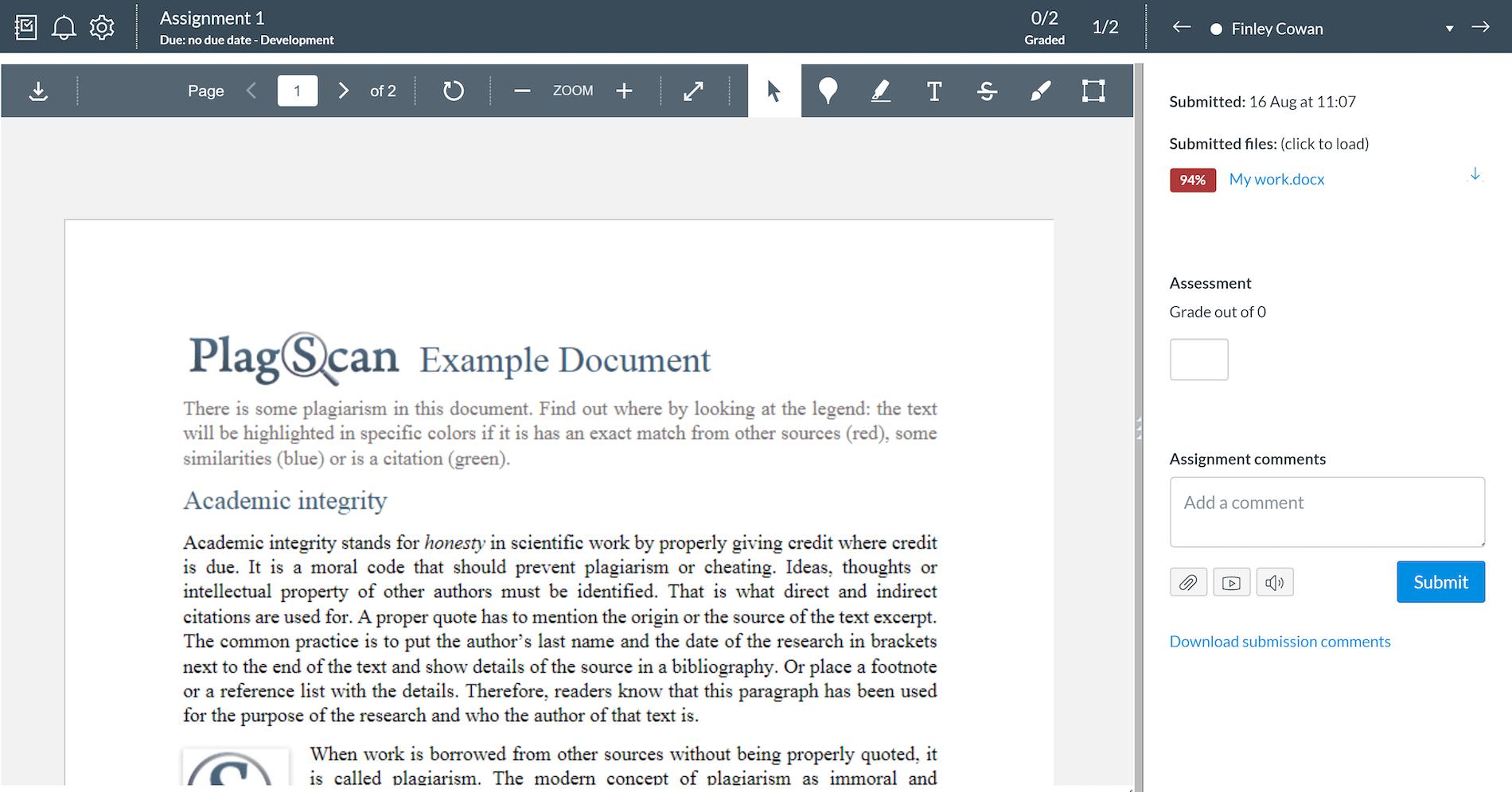 Canvas Assignment Screenshot 3
